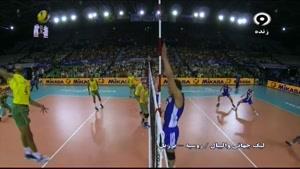 برزیل ۳ - روسیه ۱ - ست دوم در لیگ جهانی