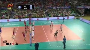 ایران ۲ - روسیه ۳ - ست سوم در لیگ جهانی