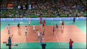 ایران ۲ - روسیه ۳ - ست چهارم در لیگ جهان