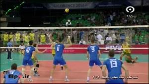 برزیل ۳ -ایتالیا ۰ ست دوم لیگ جهانی ۲۰۱۴