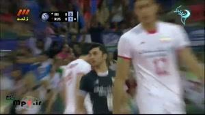 ایران۲ - روسیه۳ - ست اول در لیگ جهانی