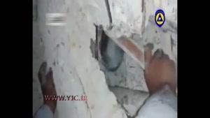نجات نوزاد ۲۵ روزه فلسطینی از زیر آوار