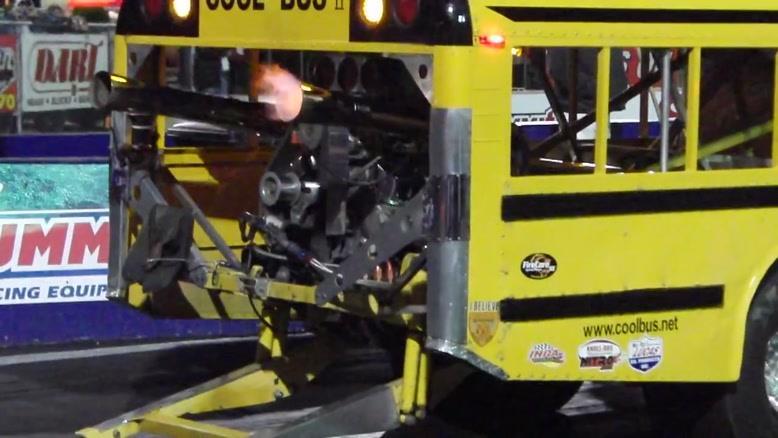 درگ و دوچرخ زدن با اتوبوس مدرسه