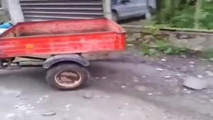 سقوط راننده موتور تو چاه
