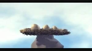 انیمیشن کارتونی خنده دار در مورد تخم مرغ.