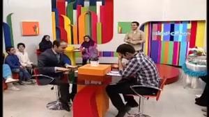 مصاحبه طنز و تقلید صدای حسن ریوندی در شبکه جام جم