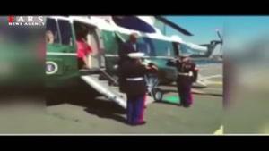 بیاحترامی نظامی اوباما به سرباز آمریکایی.