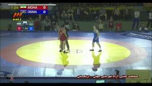 مسابقات کشتی آزاد ایران و آذربایجان - محمدیان
