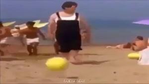 شوت کردن سر به جای توپ