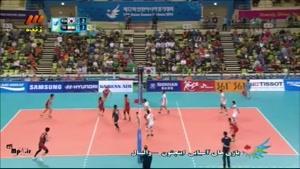 بازی های آسیایی - والیبال ایران ۳ - ۱ کره