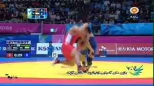 بازیهای آسیایی - رقابت رضا یزدانی با حریف مغولستان