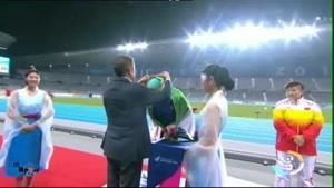 مدال نقره خانم لیلا رجبی در پرتاب دیسک