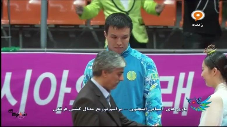 مدال طلای مهدی علی یاری در کشتی فرنگی