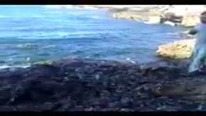 کلیپ خنده دار ترساندن در ساحل