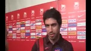 مصاحبه با بازیکنان ایران و عراق بعد از بازی