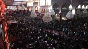 صحن حرم امام حسین(ع)در روز اربعین
