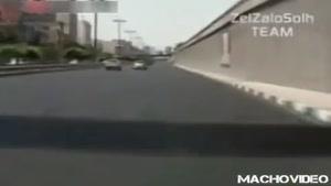 تعقيب و گريز راننده مست در تهران