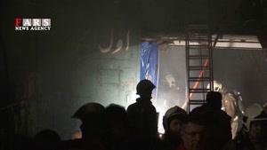 آتشسوزی در بازار مبل یافت آباد