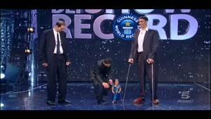 قدبلند ترین مرد دنیا درکنار کوتاه قدترین زن دنیا