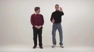 رقص باحال بیل گیتس و استیو جابز