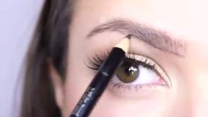 آموزش پر نشان دادن ابرو با آرایش