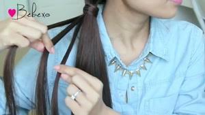 آموزش بافت موی تیغ ماهی