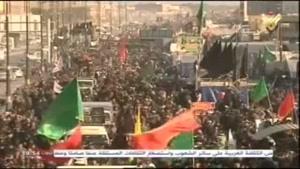 فیلم/ خیل عظیم زائران حسینی در مسیر کربلای معلی