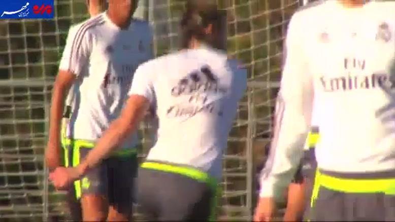 فیلم/ رئال مادرید پیش از ال کلاسیکو با همه بازیکنان تمرین کرد