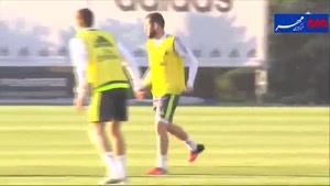 فیلم/ تمرین تیم فوتبال رئال مادرید در آستانه ال کلاسیکو