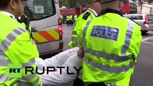فیلم/ برگزاری تظاهرات ضد سیسی در لندن