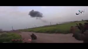 لحظه تیراندازی به خلبان روسی توسط داعش