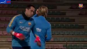 فیلم/ تمرین شاداب بارسلونا در آستانه ال کلاسیکو