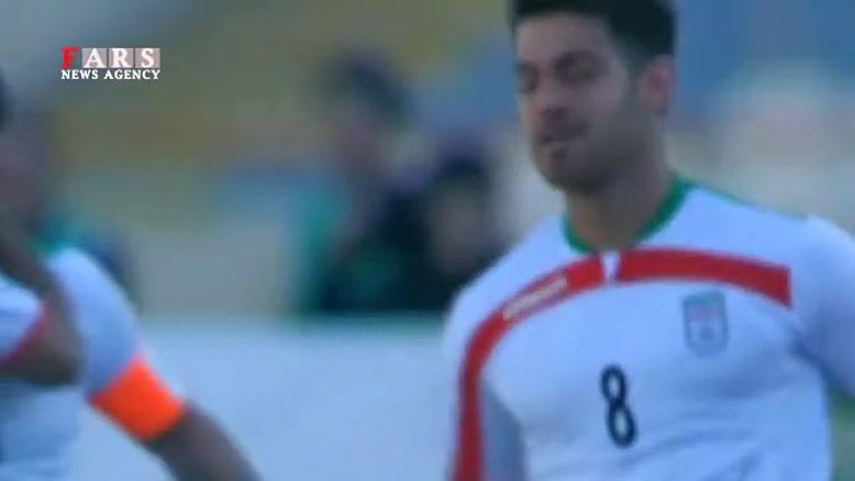 گل اول تیم ملی فوتبال ایران مقابل ترکمنستان