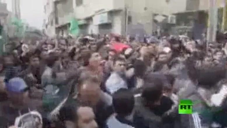 فیلم/تشییع باشکوه دو شهید فلسطینی