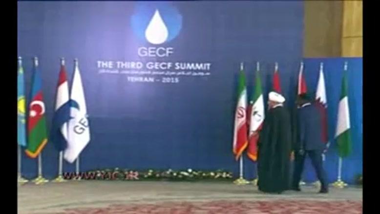 استقبال روحانی از سران مجمع کشورهای صادر کننده گاز