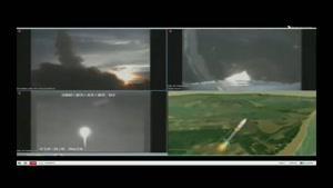 فیلم/ انفجار راکت تحقیقاتی پنتاگون