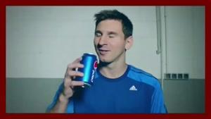 تبلیغ نوشیدنی پپسی با حضور مسی