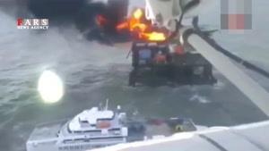 32 کشته در آتشسوزی سکوی نفتی در دریای خزر
