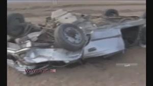 ۲ کشته و ۱ مصدوم بر اثر واژگونی خودرويی در البرز