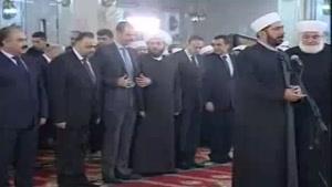 فیلم/مشارکت بشار اسد در مراسم ویژه ولادت پیامبر(ص) در غرب دمشق