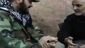 سردار سلیمانی در اتاق فرماندهی نبرد علیه داعش