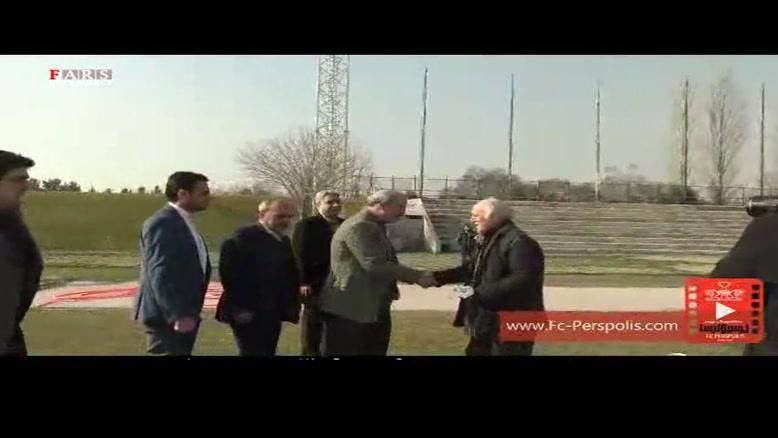 حضور وزیر ورزش در تمرین سرخپوشان
