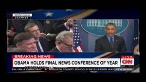 اتفاقی غیرمنتظره که سخنرانی اوباما را قطع کرد