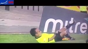 فیلم/ حرکت ریوالدویی کمک داور فوتبال در شیلی