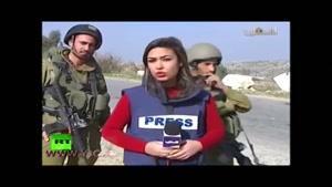 مزاحمت سربازان اسرائیلی حین گزارش خبرنگار زن
