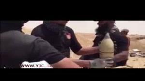 لحظه پرتاب خمپاره توسط ابوعزرائیل در جنگ با داعش