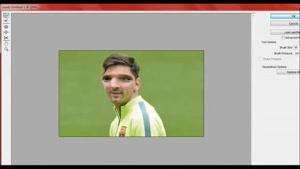 تغییر شکل لیونل مسی در فوتوشاپ