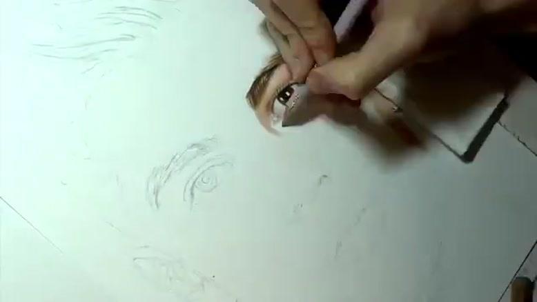 نقاشی طبیعی از کریستین رونالدو