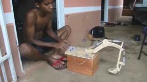 ساخت بیل مکانیکی با فشار سرنگ