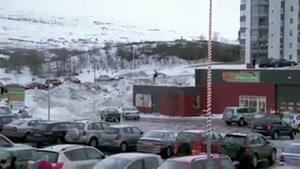 اسکی روی سقف خانه ها